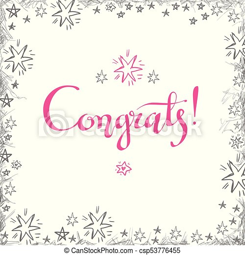 picture relating to Congratulations Card Printable named Congrats hand prepared lettering for congratulations card, greeti