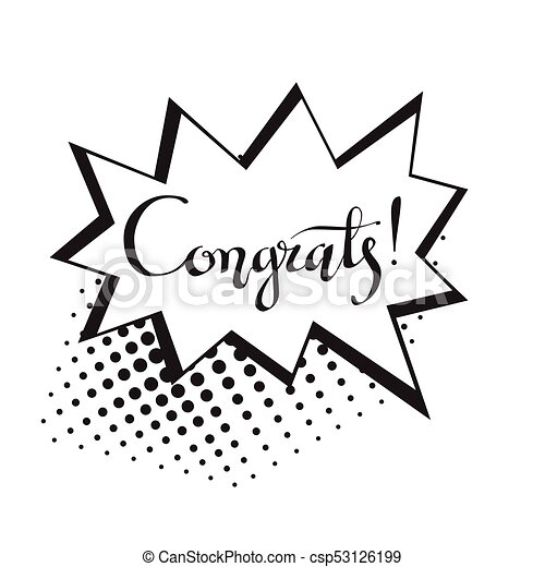 congrats hand written lettering for congratulations card greeting card invitation poster and print modern brush calligraphy isolated on background