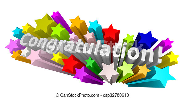 congratulation  congratulation with colorful stars on a Words Happy Birthday Clip Art Funny Happy Birthday Graphics