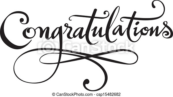 congratulations my own calligraphy rendered in vector vector rh canstockphoto com congratulations clipart images