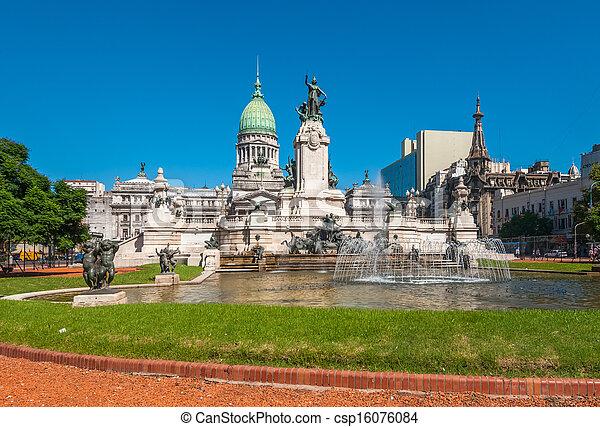 Edificio Nacional del Congreso, Buenos Aires, Argentina - csp16076084