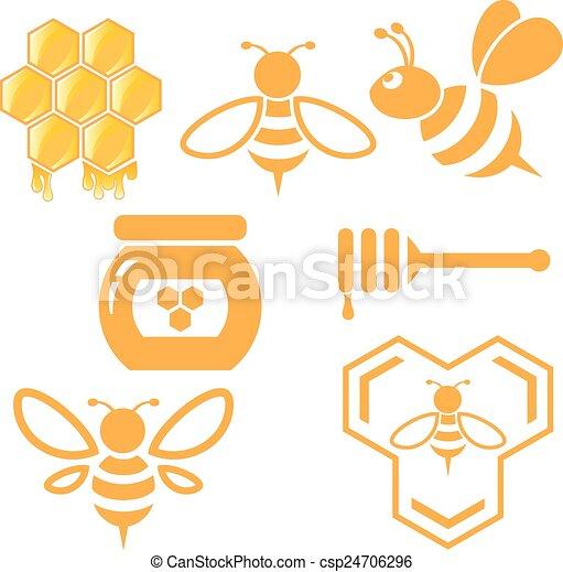Abejas y miel - csp24706296