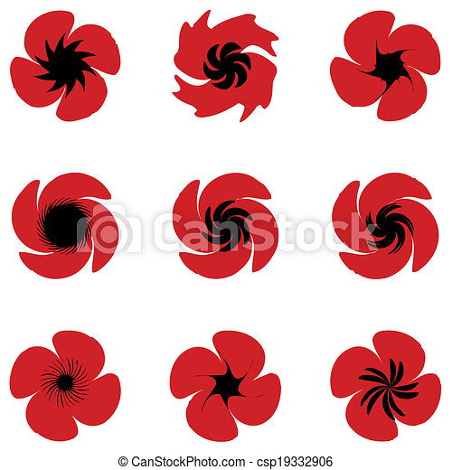 Poppies listos - csp19332906