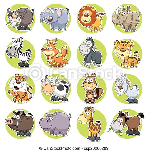 conjunto, animales - csp20260289