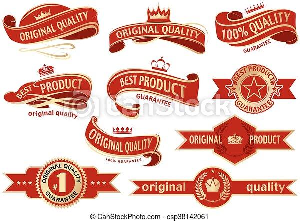 Lazo de bandera roja - csp38142061