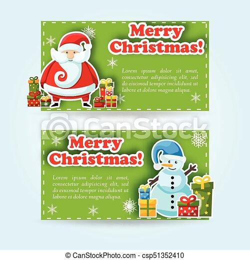 Estandarte de Navidad - csp51352410