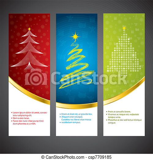 Estandarte de Navidad - csp7709185