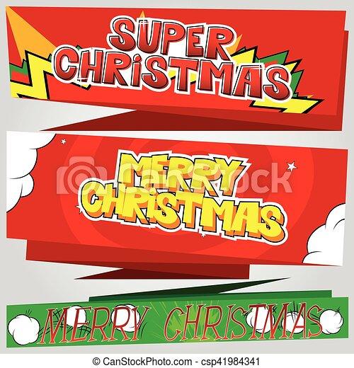 Estandarte de Navidad - csp41984341
