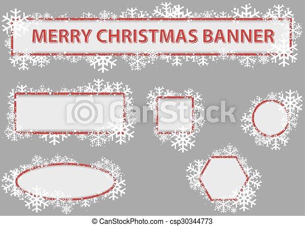 Estandarte de Navidad - csp30344773