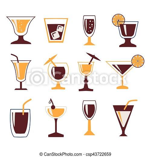Bebidas de icono - csp43722659