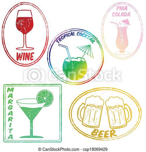 Retro conjunto de bebidas - csp18069429