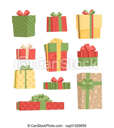 Un juego de cajas de regalos. - csp31429656