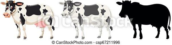 Un conjunto de carácter de vaca - csp67211996