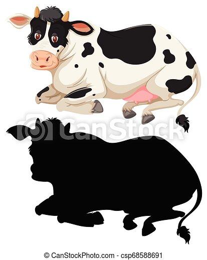 Un conjunto de carácter de vaca - csp68588691