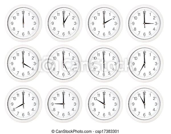 Caras de reloj - csp17383301