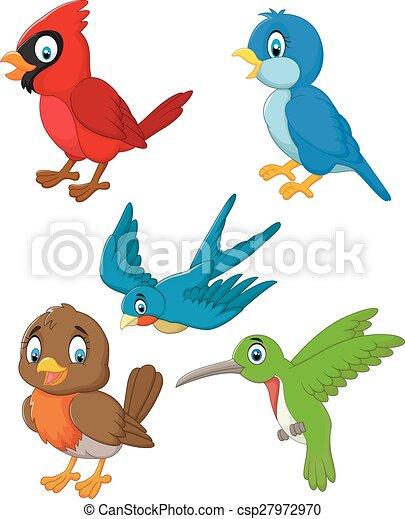 Coleccion de pájaros de dibujos animados - csp27972970