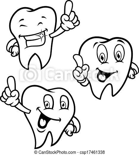 Un juego de dientes de dibujos animados - csp17461338