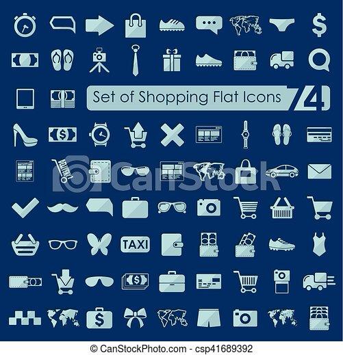 Un conjunto de iconos de compras - csp41689392
