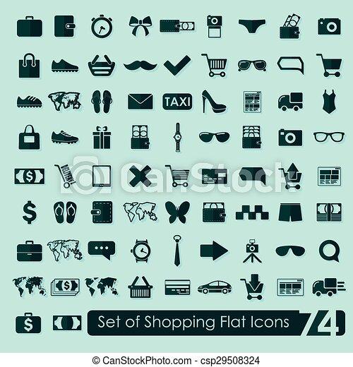 Un conjunto de iconos de compras - csp29508324