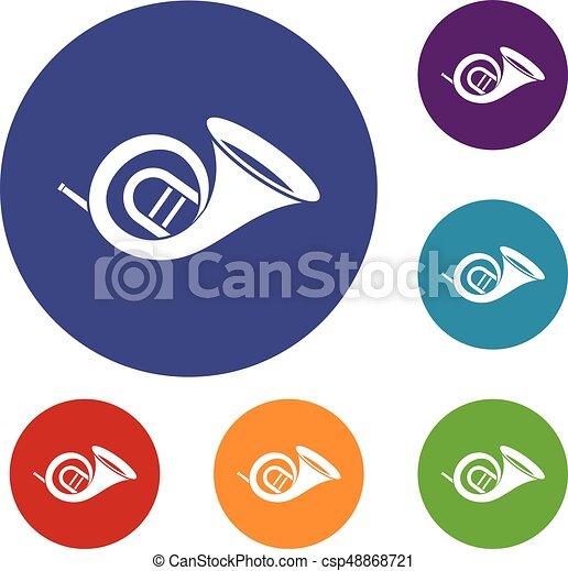 Los iconos del cuerno francés - csp48868721