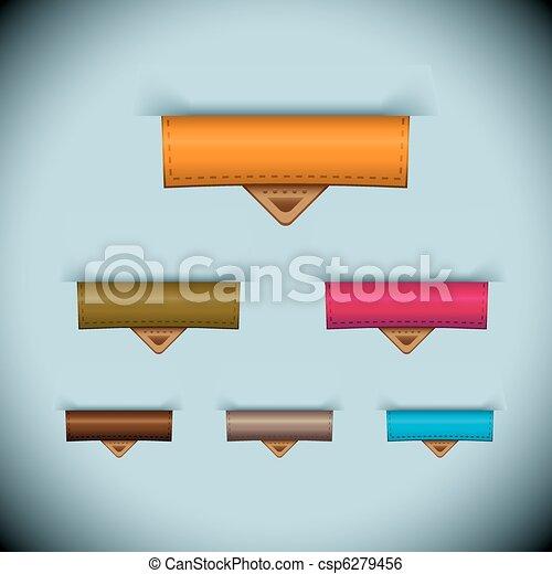 La etiqueta de piel de papel - csp6279456