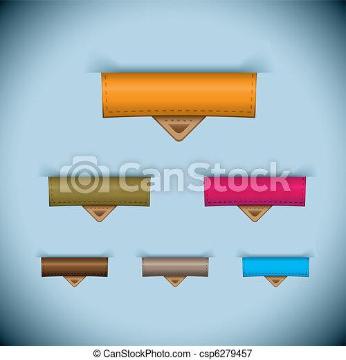 La etiqueta de piel de papel - csp6279457