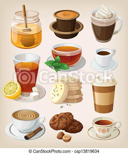 Unas deliciosas bebidas calientes: café - csp13819634
