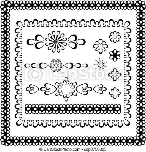 Conjunto, e, diseño gráfico, marcos. Elementos, conjunto, diseño ...