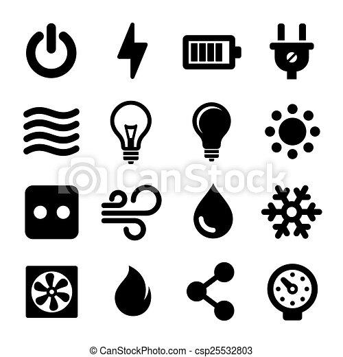 Iconos eléctricos - csp25532803