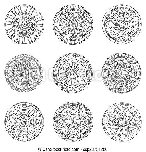 Círculos, elementos de diseño de logo. - csp23751286
