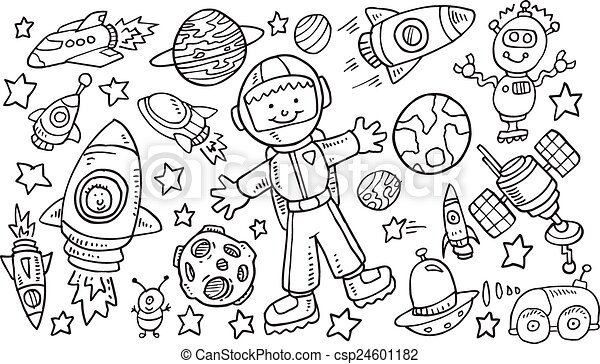 Arte del vector exterior del Doodle vector - csp24601182