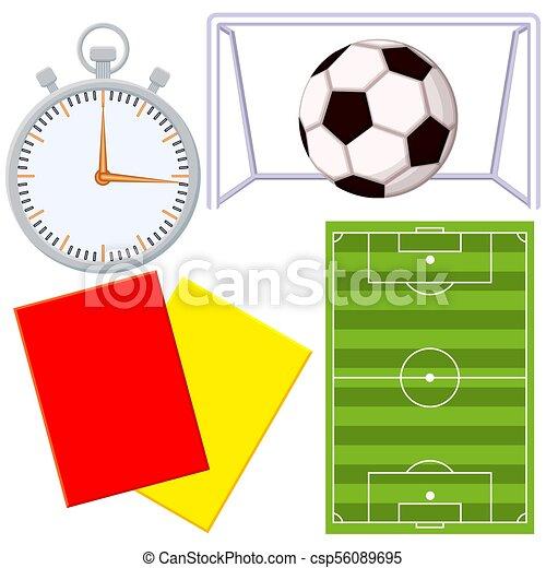 Juego de fútbol de fútbol de fútbol de dibujos animados - csp56089695