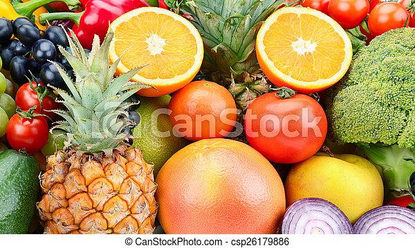 Pon fruta y vegetales - csp26179886