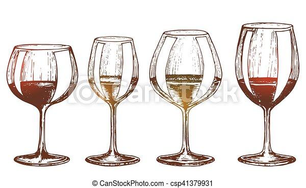 Unas copas de vino - csp41379931