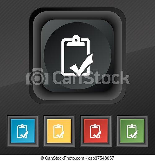 Conjunto, gramática, completo, icono, trabajo, símbolo.,... vector ...