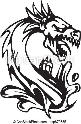 Dragón, halloween, ilustración del vector - csp8706851