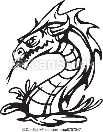 Dragón, halloween, ilustración del vector - csp8707047