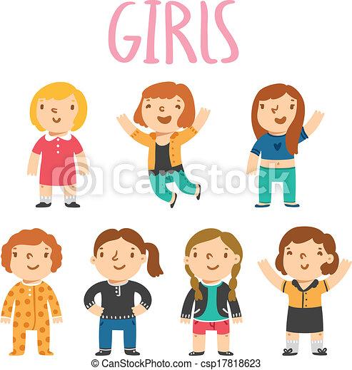 Siete personajes femeninos - csp17818623