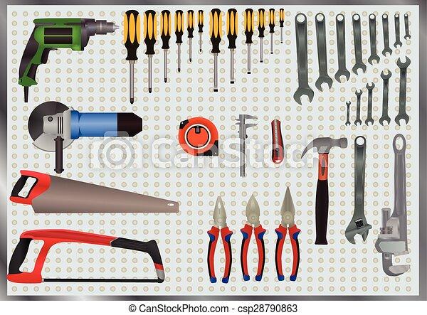 Son herramientas manuales - csp28790863