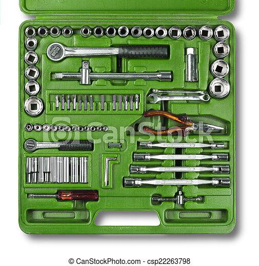 Herramientas mecánicas preparadas - csp22263798