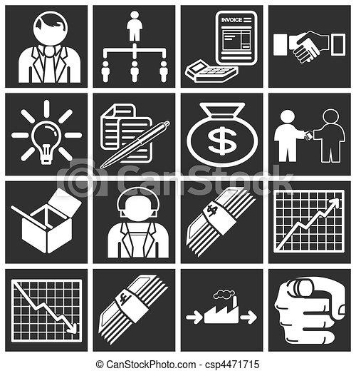 Un icono de negocios listo - csp4471715
