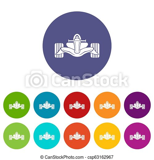 Los iconos de fórmula de carreras marcan el color - csp63162967