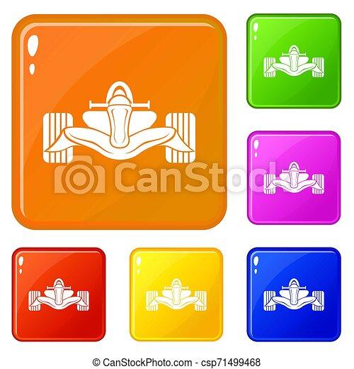 Los iconos de fórmula de carreras marcan el color - csp71499468