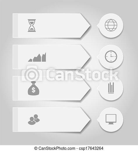 Pon estandartes de negocios modernos con íconos infográficos - csp17643264
