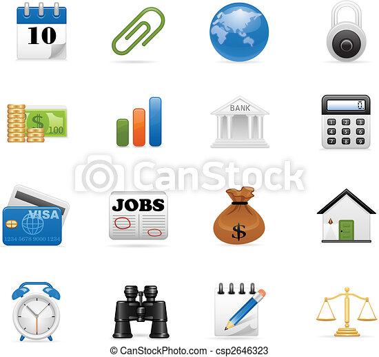 iconos de negocios listos - csp2646323