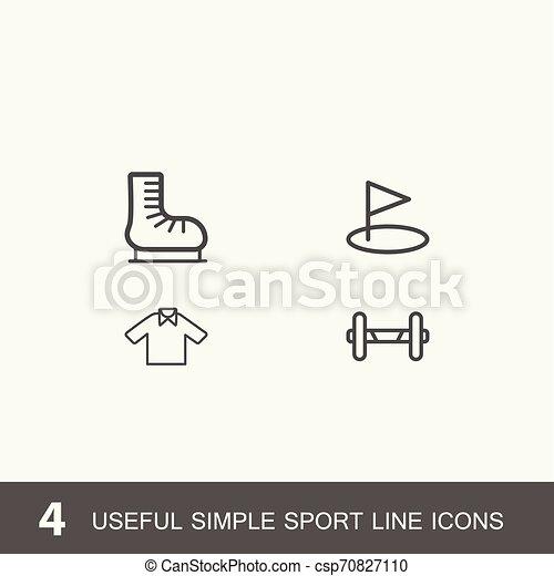 4 iconos por deporte, salud y medicina. - csp70827110