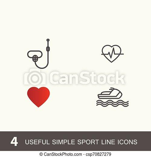 4 iconos por deporte, salud y medicina. - csp70827279