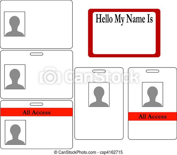 Un conjunto de placas de identificación - csp4162715