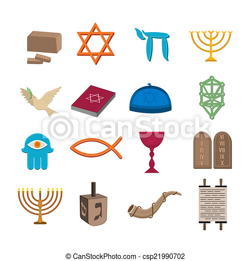 iconos judaísmo listos - csp21990702