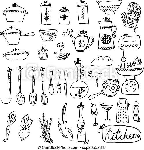 Conjunto kitchen elementos dise o vector elegante for Elementos de cocina